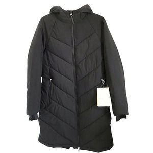 All In Motion Mid-Length Puffer Jacket in Black